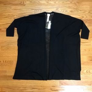 Chico's Black Convertible Cardigan Sweater Size 00